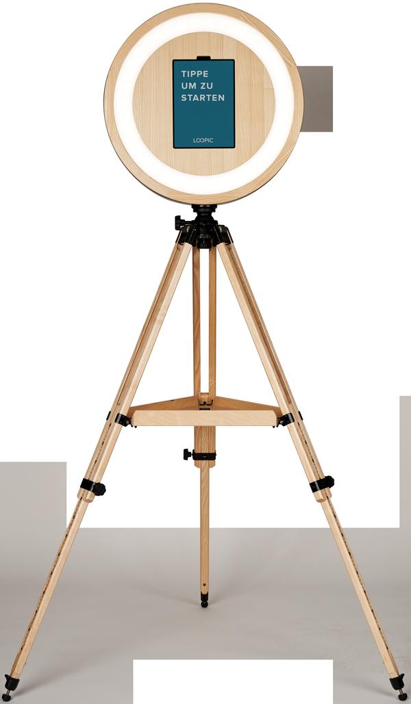 Das Hauptelement der LOOPIC-Fotobox aus Bremen